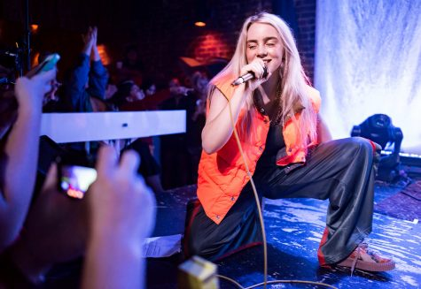 Billie Eilish performs.