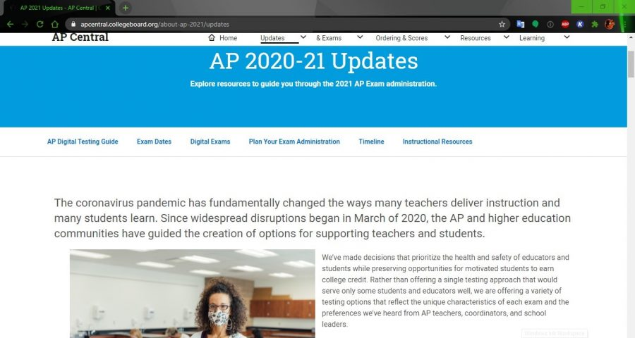 The AP Central website, run by the College Board, is the place to get updates on AP exam administration as exam day get closer.