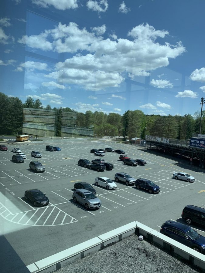 The lower lot is filled with available spaces throughout the entire school day.