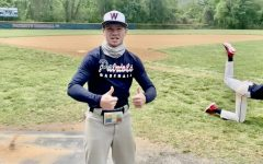 Junior Dason Miller gets excited at baseball practice.