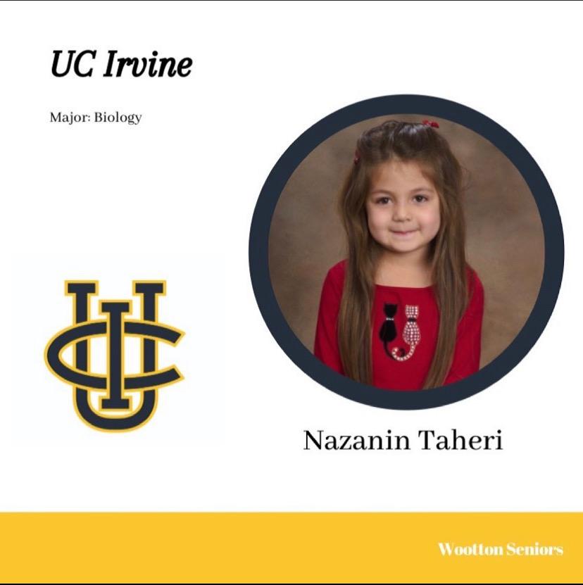 Senior Nazanin Taheri committed to UC Irvine based on its location.