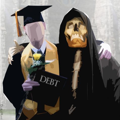 Debt follows students after graduation.