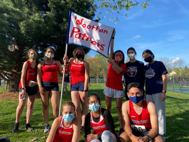 The cross country team takes the course against Einstein on Apr. 13.