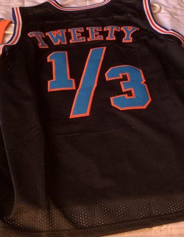 A jersey of Tweety Bird from the original Space Jam film