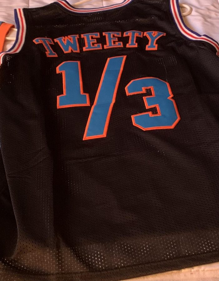 A jersey of Tweety Bird from the original Space Jam film