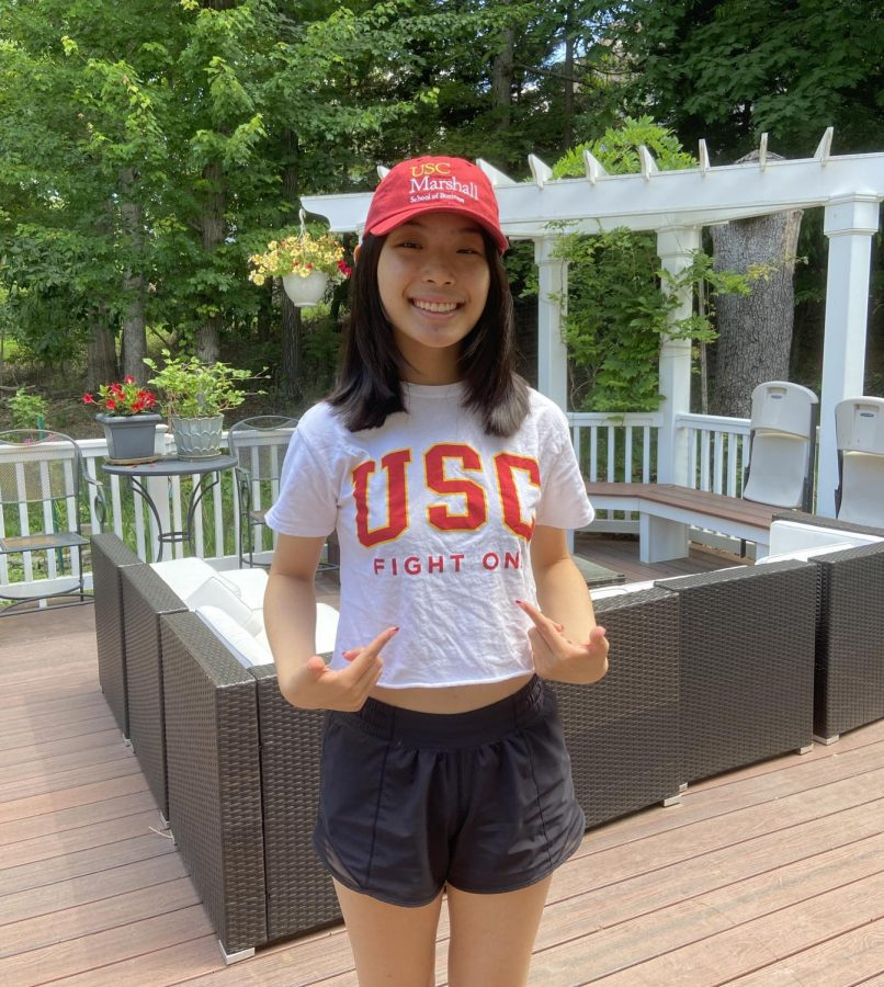 Senior Christina Liu will be attending the University of Southern California on a half ride this upcoming fall.