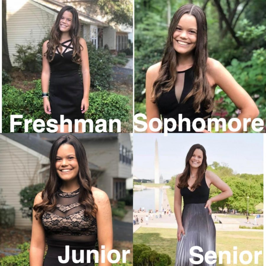 Senior+Jenna+Lind+compares+her+experiences+and+lessons+learned+through+every+year+of+high+school.