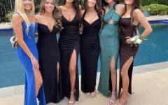 Seniors Emma Hoffman, Danielle Berman, Nesya Weinsweig, Jamie Stern, Riya Kohli, and Ella Teichberg celebrate their last high school days together with a prom.