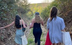 Seniors Zara Denison, Kat Jackson, and Paige Abid go on a hike.