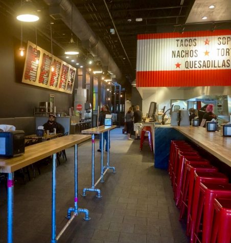 Taco Bambas industrial atmosphere provides a clean and modern feel.