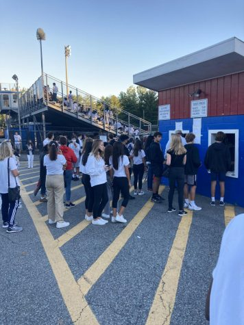 Students and visitors are not required to wear masks when using outdoor spaces for experiences such as at the varsity football game against the Churchill Bulldogs.