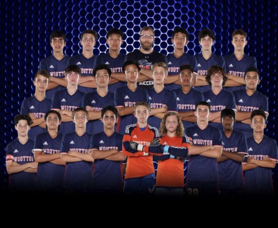 The boys JV soccer team.