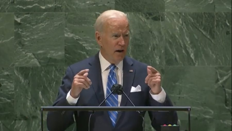 President Joe Biden gives an impassioned speech in-person at the UN General Assembly.